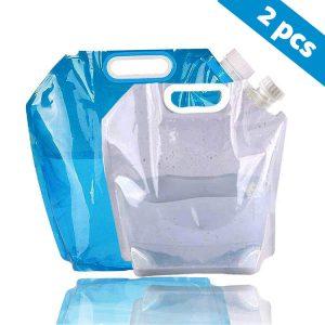 Bolsa plegable de almacenaje de agua de 10 litros