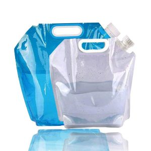 Folding water storage bag