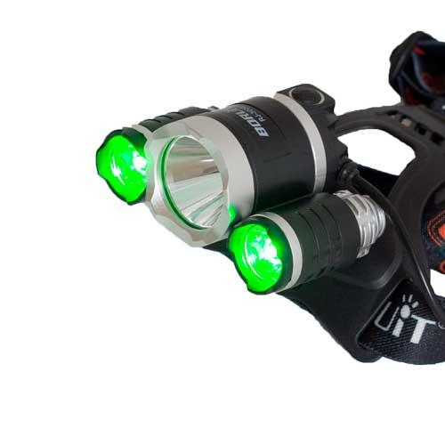 Wasserdichter Stirnlampe mit weißem und grünes Licht