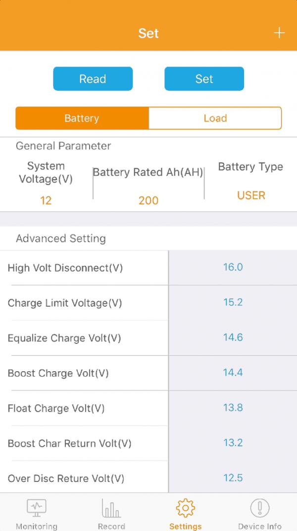 BT2 Bluetooth-Adapter für SRNE MPPT-Solarladeregler