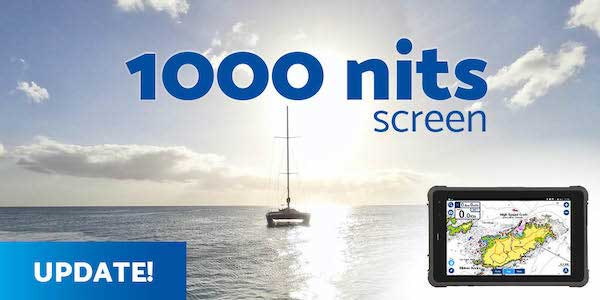 SailProof rugged tablet 1000 nits screen